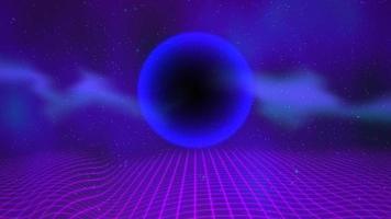 blauwe bol en raster