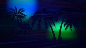 palmeiras na paisagem do pôr do sol video