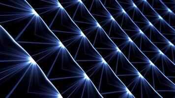 boucle de perspective de technologie de motif géométrique de lumière bleue