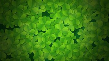 padrão de trevos verdes