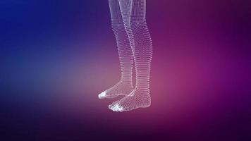 gráficos 3D de pernas humanas