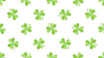 gröna shamrocks mönster