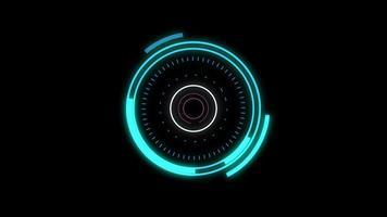 hud futurista em forma de círculo video