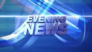 Text Evening News in Blue Background