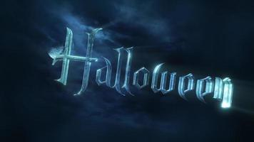 Text Halloween mit dunklem Mond video