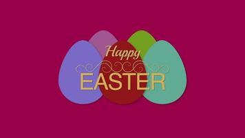 feliz texto de páscoa e ovos