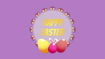 Happy Easter eggs video