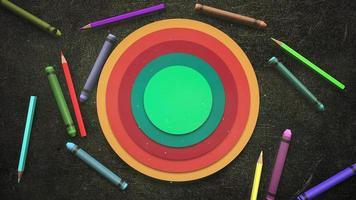 färgglada barnpennor video