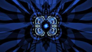 hud de engrenagem digital formando um círculo girando em loop movimento video