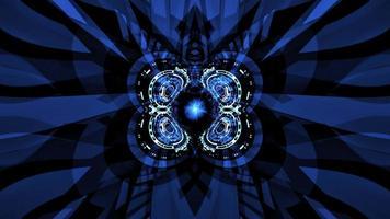 ingranaggio digitale hud formando cerchio filatura movimento del ciclo
