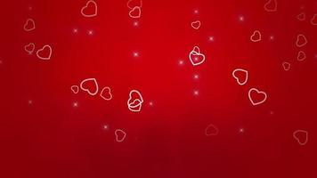 animation som flyger röda hjärtan