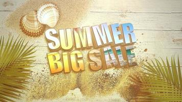 Text Summer Big Sale video