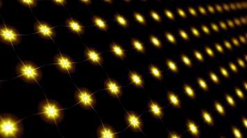 padrão de mosaico de luz amarela estrela led loop motion
