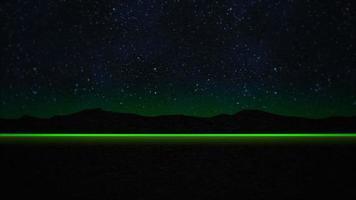 grüner Blitz im Berg video
