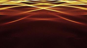 superficie dinamica ondulata ondeggiante splendente ciclo onda d'oro video