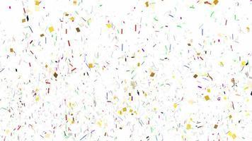 explosões de confete caindo