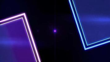 quadrados de néon brilhantes video