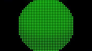 lumières de modèle de points de pixels. video