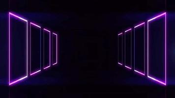 quadrados abstratos de néon video