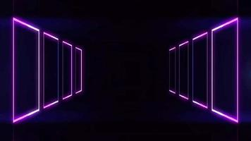 abstrakte Neonquadrate