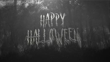 feliz dia das bruxas com floresta mística video