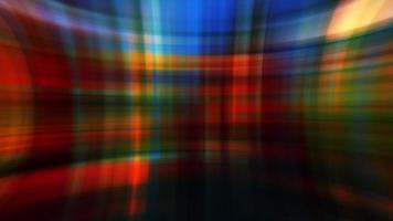 Schleife blinkende Regenbogen Neon Farbe digitale Kreuzleiste video