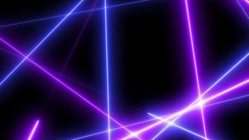 Laser läuft Zickzacklinie