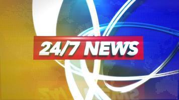Animationstext vierundzwanzig Schrägstrich sieben Nachrichten