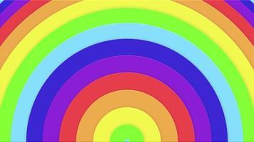 patrón hipnótico de color arco iris