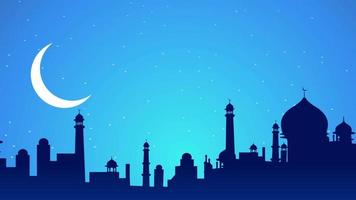 Night View Celebration of Eid Mubarak