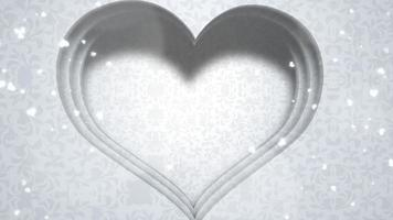 coração branco brilhante video