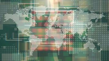 grafische Nachrichten Weltkarte video