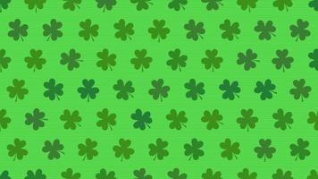 grünes Kleeblattmuster video