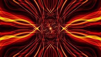 bucle abstracto hipnótico fantasía caleidoscopio de luz roja naranja video