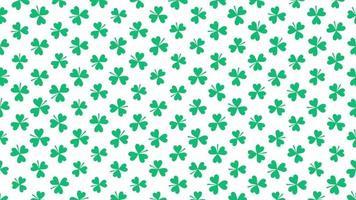 pequeno padrão de trevos verdes