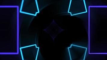 Neon geometric shapes show