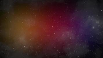 partículas e estrelas na galáxia video