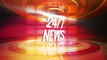 Text vierundzwanzig Schrägstrich sieben Nachrichten und kreisförmige Formen video