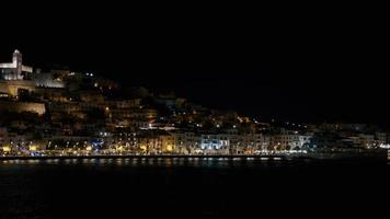 Ibiza fort castle Dalt Vila at night