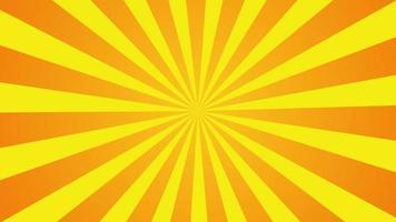 orange gelbe Sonnenstrahlung Cartoon-Stil.