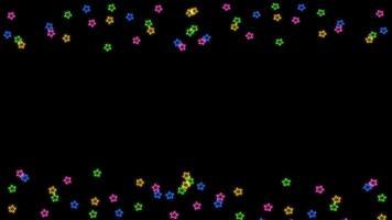 fundo voador aleatório com estrelas do arco-íris
