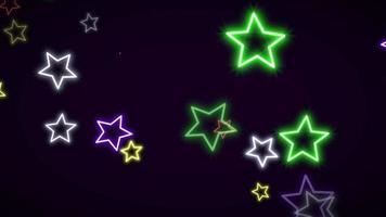 étoiles néon rétro