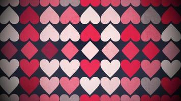 Small hearts background video