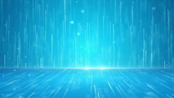 líneas digitales moviéndose hacia arriba en fondo azul video