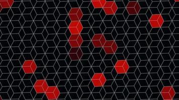 cubos rojos geométricos abstractos