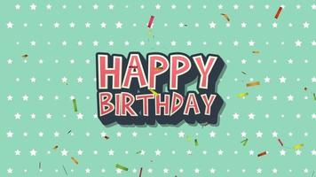 retro text Grattis på födelsedagen video
