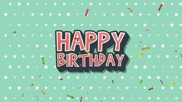 texto retro feliz cumpleaños