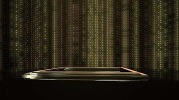 luces parpadeantes en el escenario video