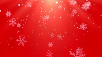 Shiny Red Background for Winter Holidays