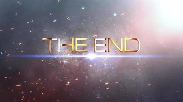 The End Futuristic Background  video